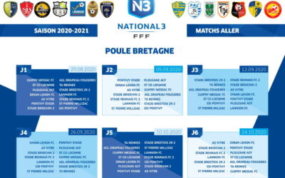 Calendrier National 3 – saison 2020-2021