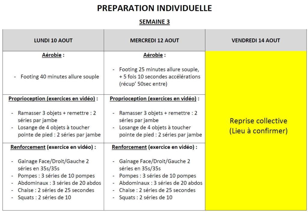 lannion fc préparation individuelle u16-17 semaine 3