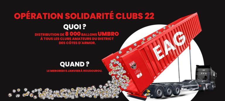 OPÉRATION: « SOLIDARITÉ CLUBS 22 » –  8 000 BALLONS POUR LES CLUBS DES CÔTES D'ARMOR