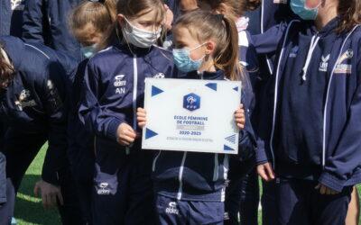 Label fédéral argent pour l'école de foot féminine