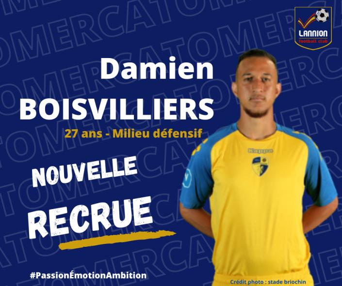 Damien Boisvilliers lannion fc