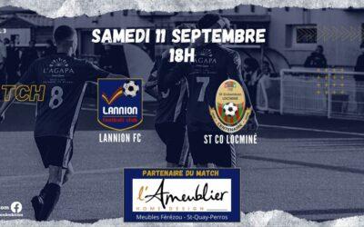 J3-N3 : LANNION FC – ST CO LOCMINE (le 11/09 à 18h00)