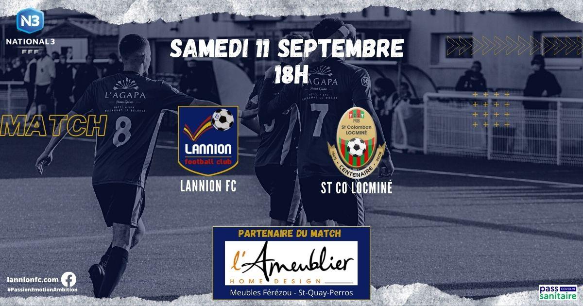 affiche match lannion fc locminé