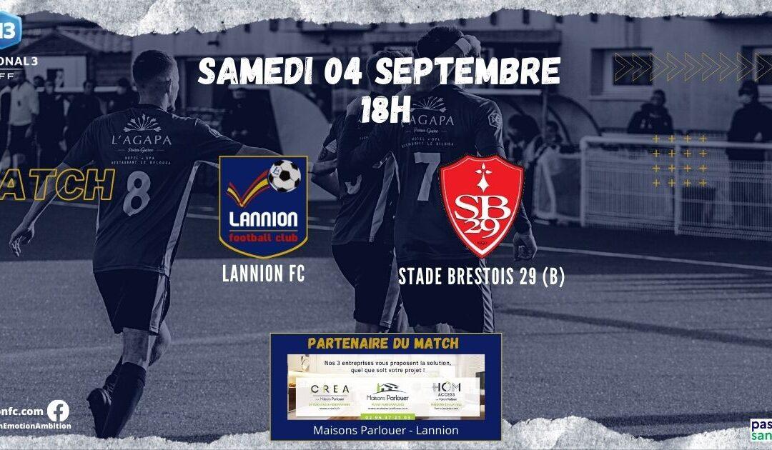 J2-N3 : LANNION FC – STADE BRESTOIS (le 04/09 à 18h00)