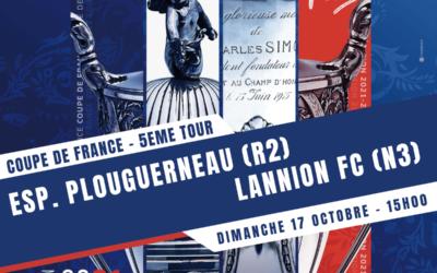 Coupe de France 2022 : 5ème tour ES PLOUGUERNEAU – LANNION FC